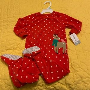 2/$20 Carter's Girls Size 18 months Christmas NWT